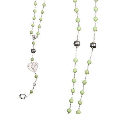 Rosary Lime Turquoise